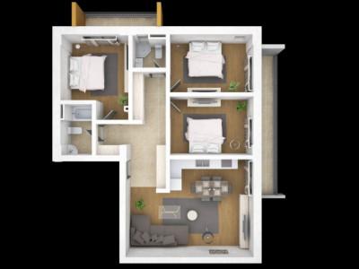 apartamentul situat in zona COMPOZITORI, in bloc nou